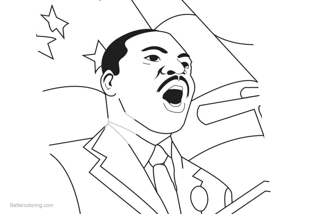 Free Martin Luther King Coloring Pages I Have A Dream printable
