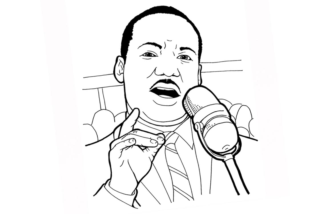 Martin Luther King Coloring Pages printable for free