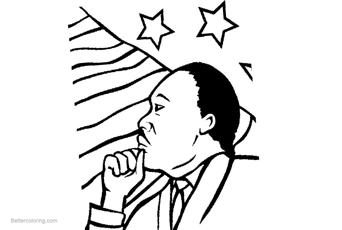 Free Martin Luther King Day Realistic Coloring Pages printable