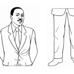 Martin Luther King Jr Coloring Pages Template