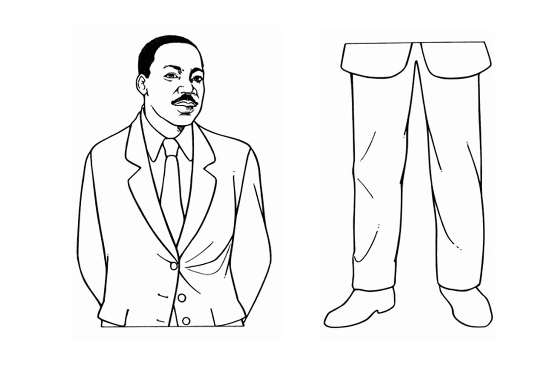 Martin Luther King Jr Coloring Pages Template - Free Printable ...