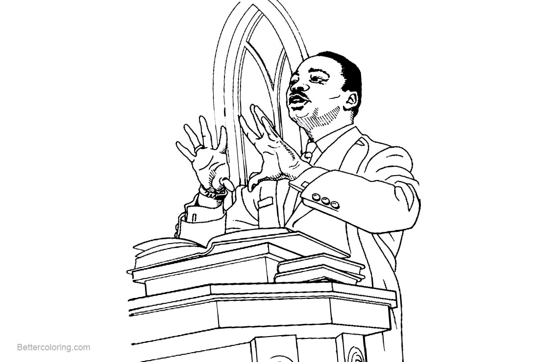 Old Fashioned Martin Luther King Jr Coloring Page For Kids Adornment ...