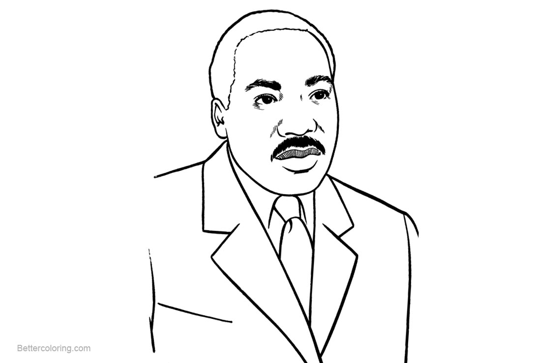 Free Martin Luther King jr Coloring Pages printable