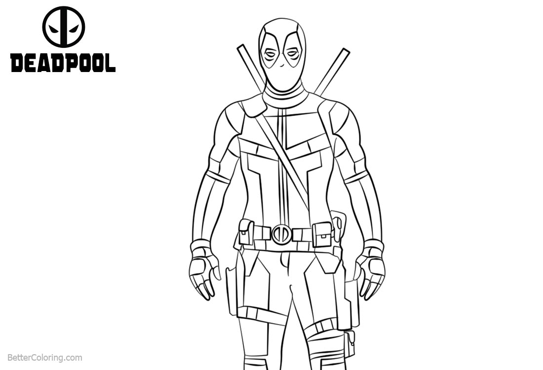 Marvel Deadpool Coloring Pages Superhero printable for free