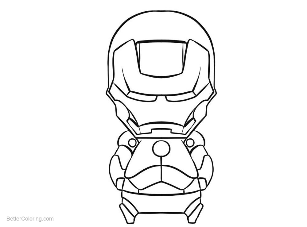 Superhero Thanos Coloring Pages: Marvel Superhero Chibi Iron Man Coloring Pages