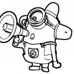 Minion Coloring Pages Black and White