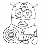 Minion Coloring Pages Captain America Batman
