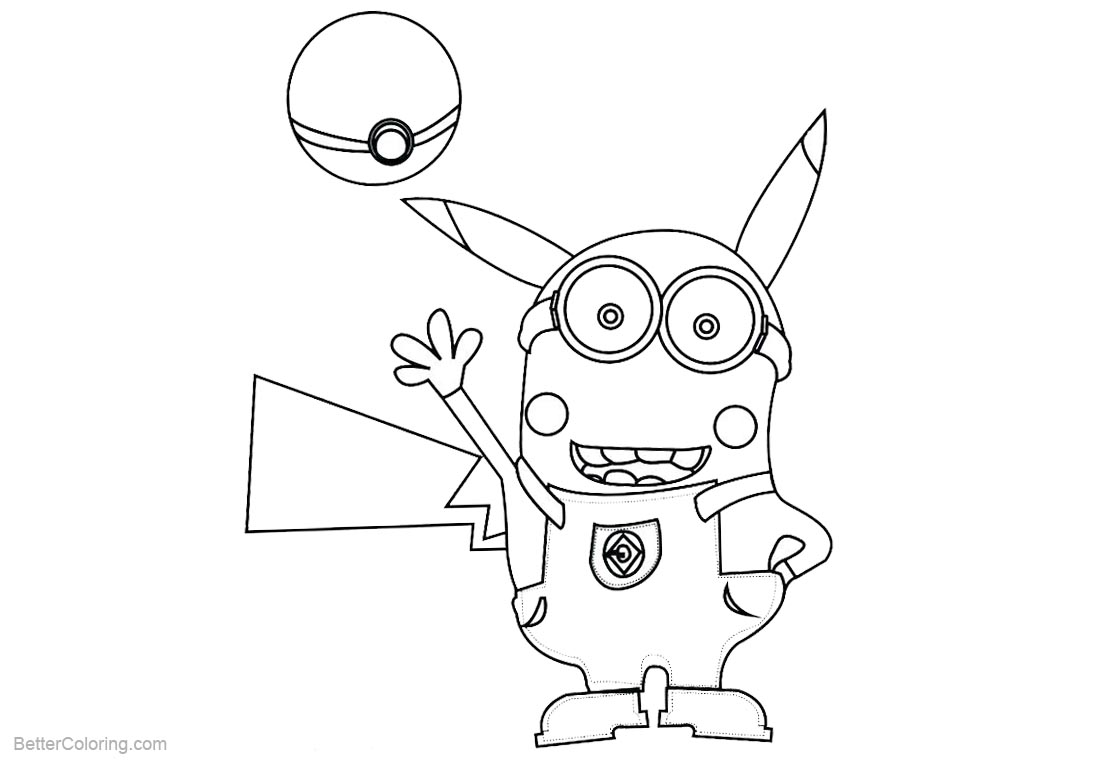 Minion Coloring Pages Charizard Mega Evolution printable for free