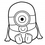 Minion Coloring Pages Chibi Minion