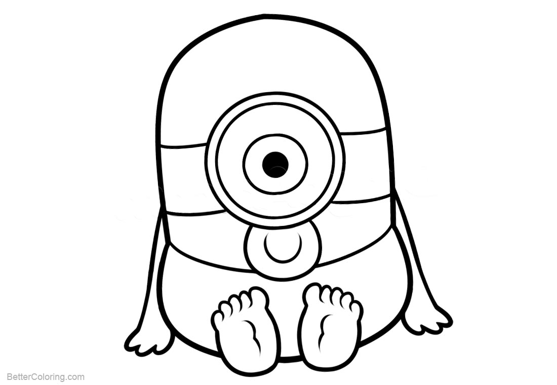 Minion Coloring Pages Chibi Minion printable for free