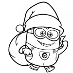 Minion Coloring Pages Christmas Santa Minions