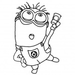 Minion Coloring Pages Dancing