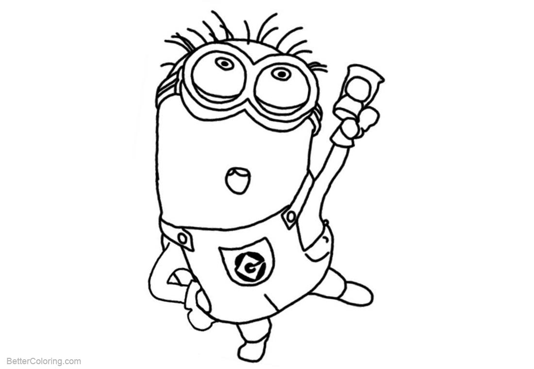 Minion Coloring Pages Dancing printable for free