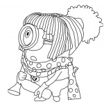 Minion Coloring Pages Despicable Me Character