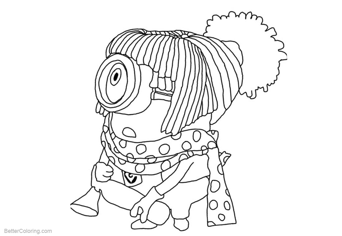 Minion Coloring Pages Despicable Me Character printable for free