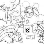 Minion Coloring Pages Line Drawing