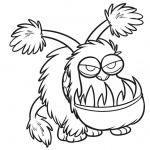 Minion Coloring Pages Monster