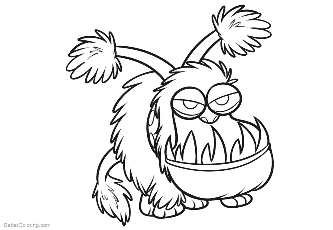 Minion Coloring Pages Monster printable for free