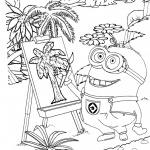 Minion Coloring Pages Painting