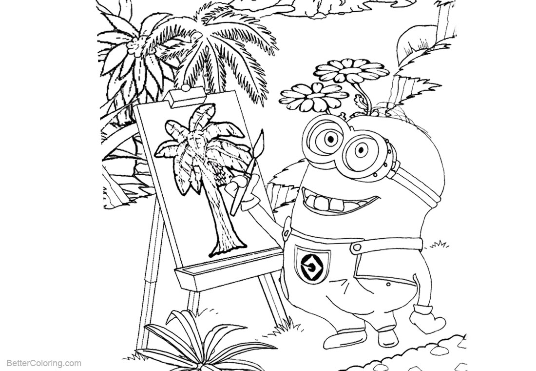 Minion Coloring Pages Painting printable for free