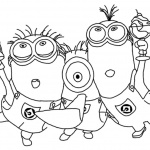 Minion Coloring Pages Party Time