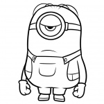 Minion Coloring Pages Sadly