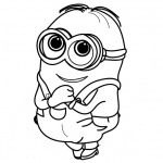 Minion Coloring Pages So Happy