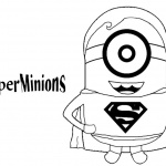Minion Coloring Pages Super Minions Superman Style