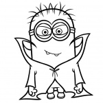 Minion Coloring Pages Vampire Style