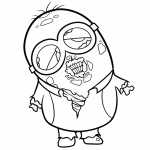 Minion Coloring Pages Zombie Minion