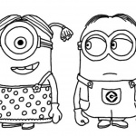 Minion Coloring Pages with The Girl