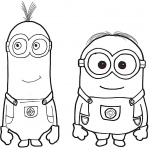 Minion Dave Coloring Pages Characters