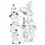 Minion Despicable Me Coloring Pages Characters