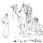 Mojave Desert Animals and Plants Coloring Pages Camels