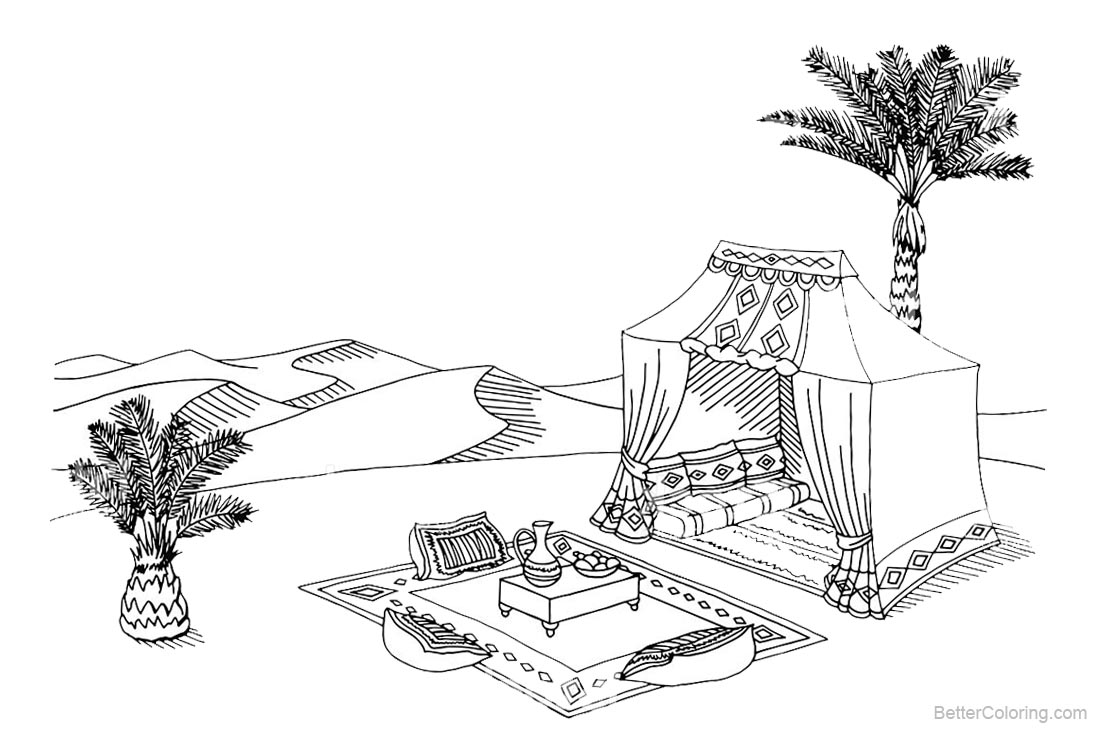 Mojave Desert Animals and Plants Coloring Pages Tent ...