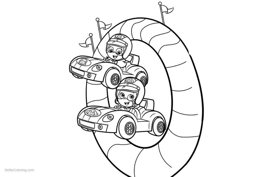 Molly from Bubble Guppies Coloring Pages with Deema Clipart printable for free