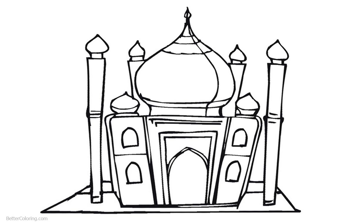 Mosque of Ramadan Coloring Pages printable for free