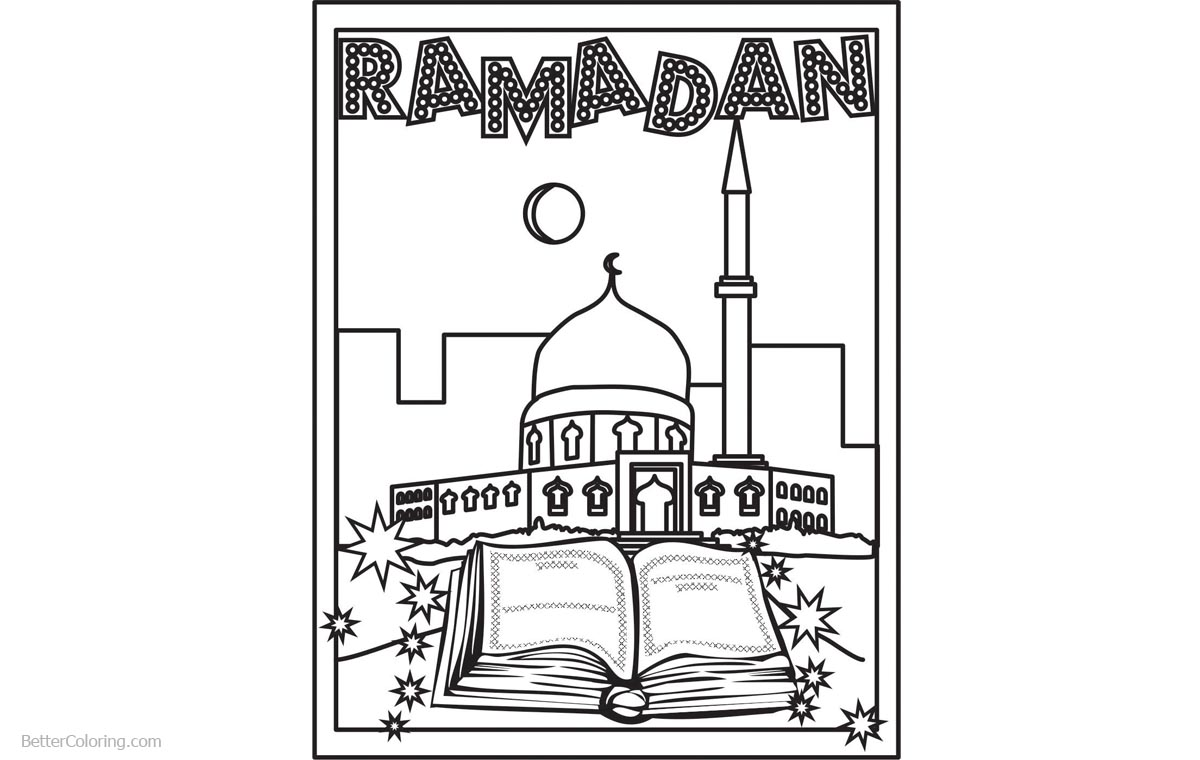 Muslim Ramadan Coloring Pages - Free Printable Coloring Pages