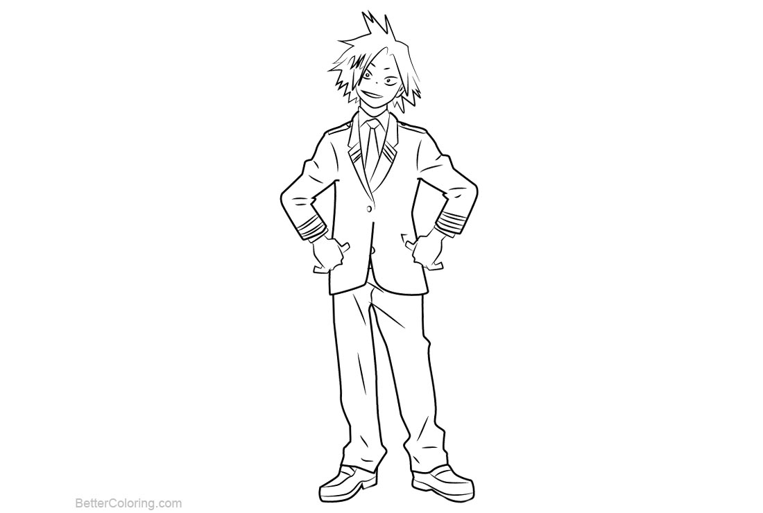 Free My Hero Academia Coloring Pages Denki Kaminari printable