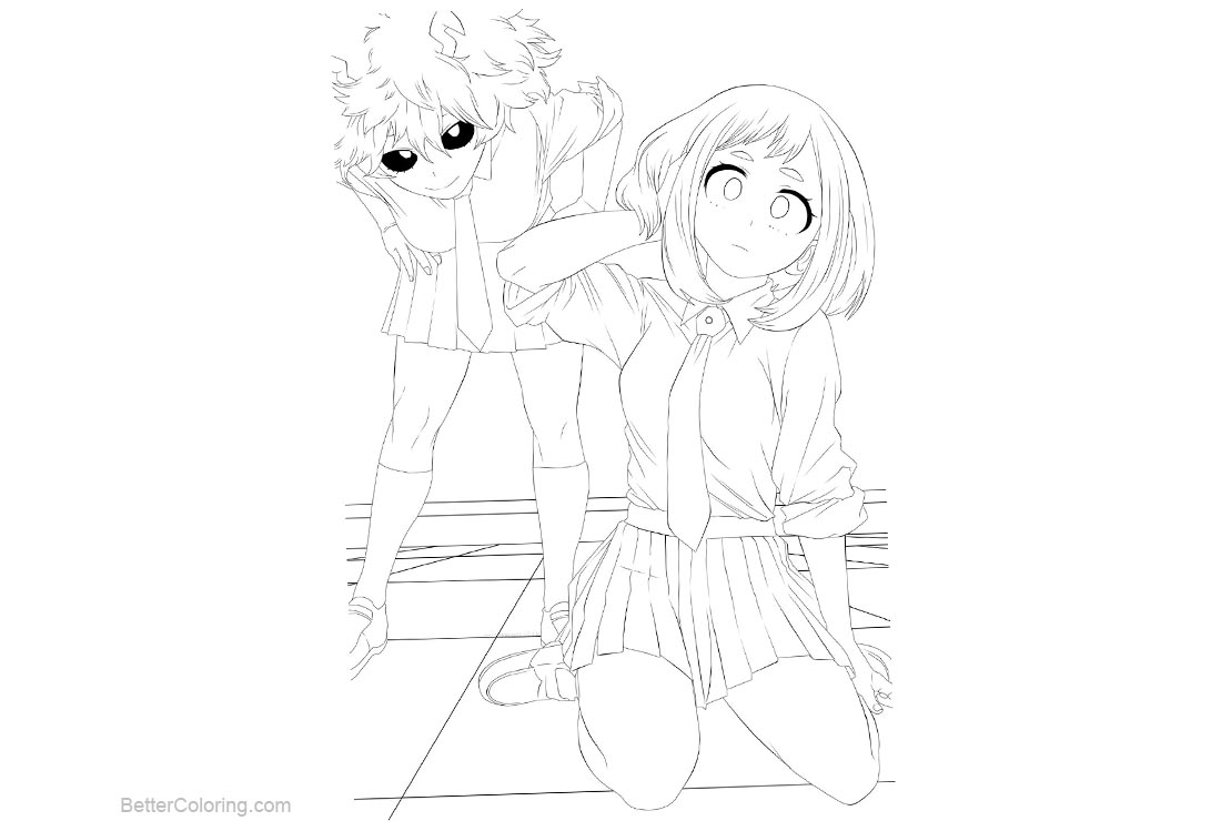 Free My Hero Academia Coloring Pages Line Drawing by michi printable