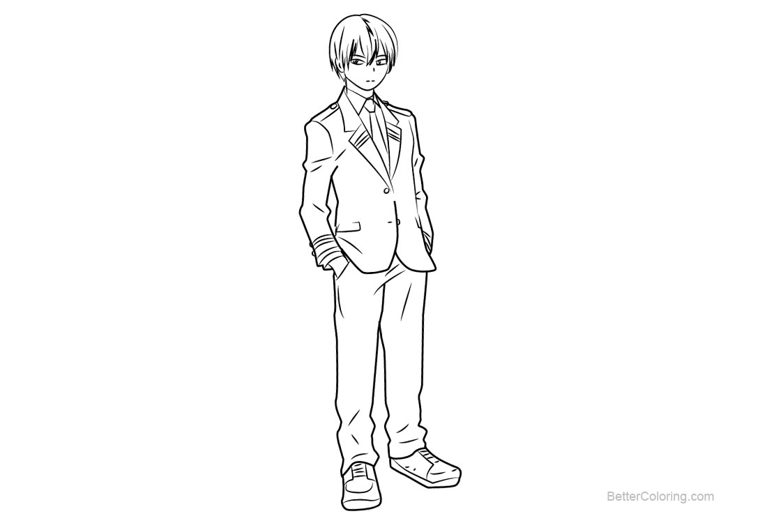 Free My Hero Academia Coloring Pages Shouto Todoroki printable