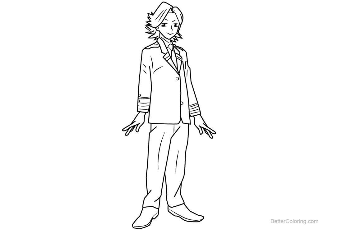 Free My Hero Academia Coloring Pages Yuuga Aoyama printable