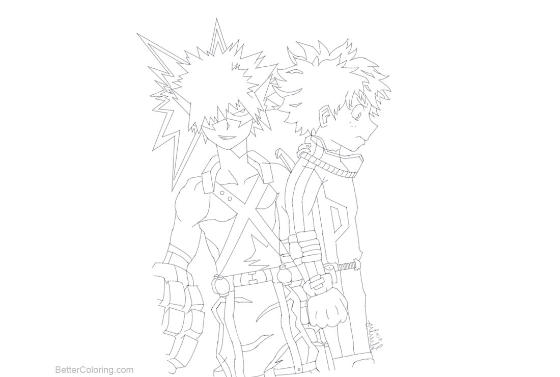 Free My Hero Academia Coloring Pages by Rainydayylover printable
