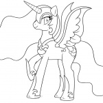 My Little Pony Coloring Pages Lineart Nightmare Moon