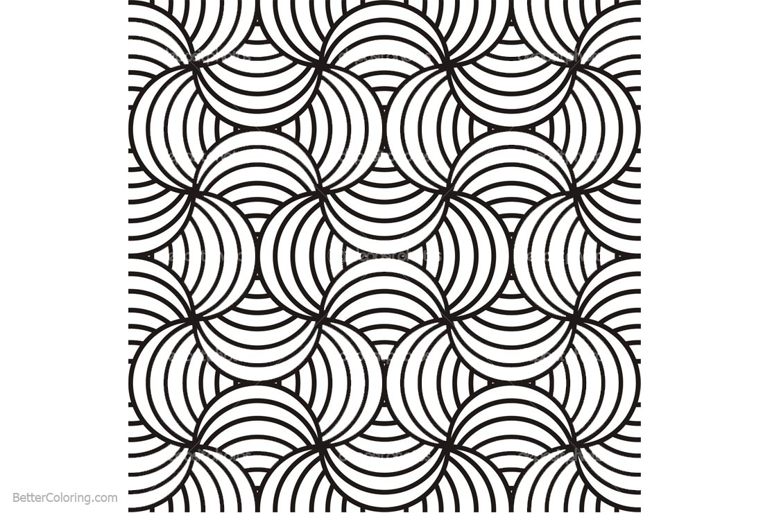 Optical Illusion Coloring Pages Abstract Patterns - Free Printable ...