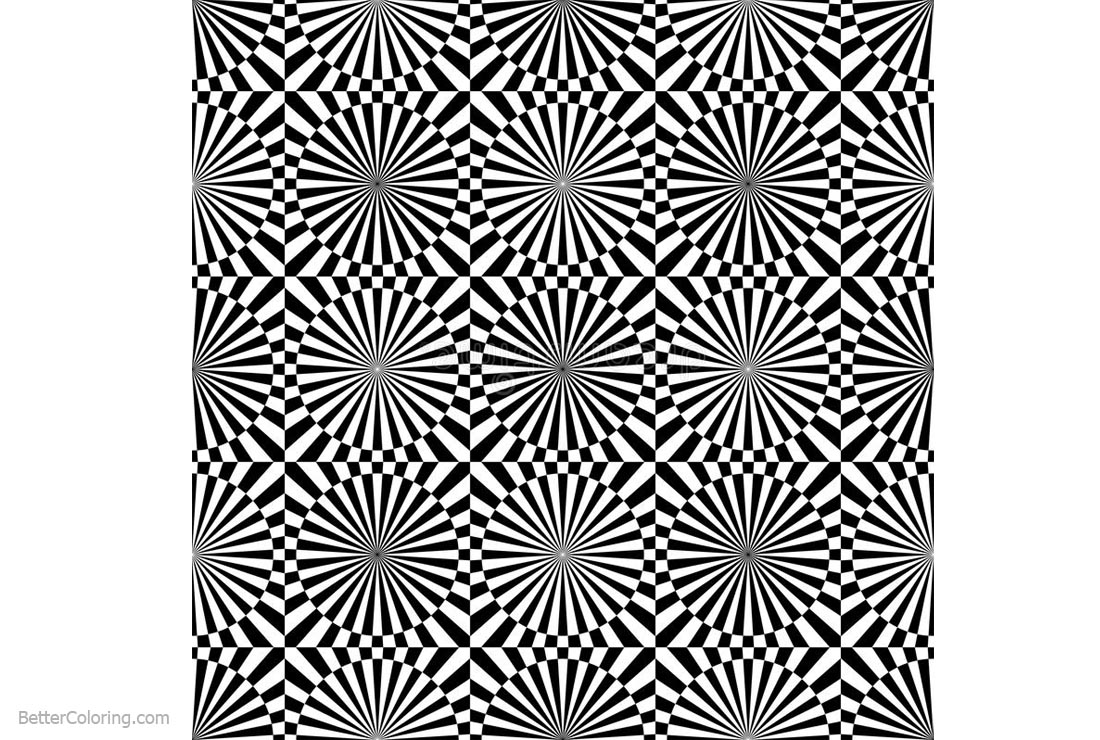 Optical Illusion Coloring Pages Abstract Vector Seamless ...