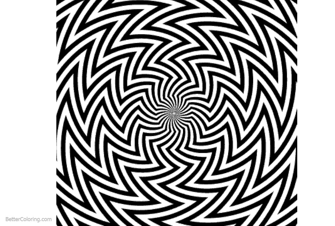Free Optical Illusion Coloring Pages Bridget Rriley Blaze printable