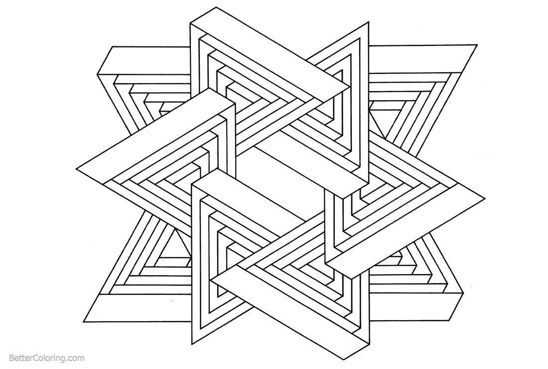 printable illusion coloring pages - photo#8