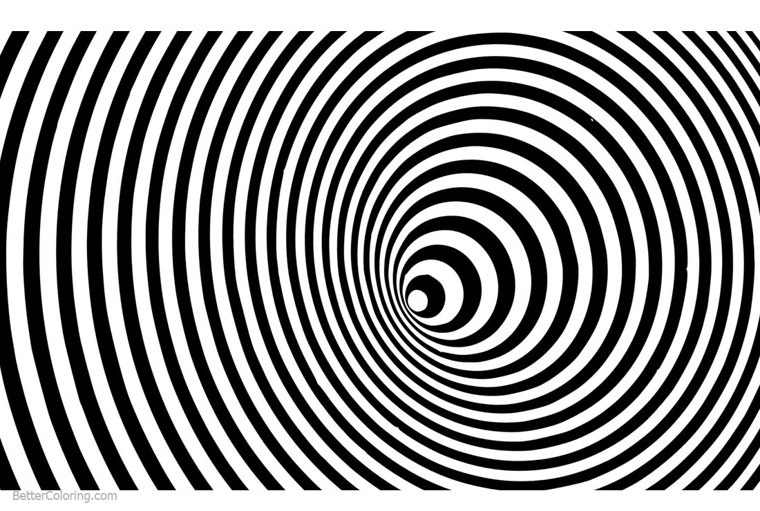 Optical Illusion Coloring Pages Movement Loop - Free ...