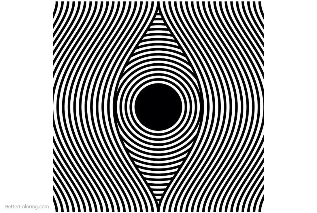 Optical Illusion Coloring Pages Op Art Designs Free